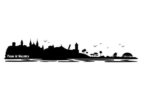 Preisvergleich Produktbild Wandtattooladen Wandtattoo - Palma de Mallorca Größe:200x35cm Farbe: taupe