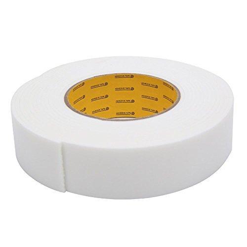 MyLifeUNIT Super Sticky éponge mousse de caoutchouc Bande, force industrielle éponge double face ruban adhésif, 36 mm x 2,5 mm x 4.5 m (Blanc)