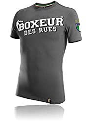BOXEUR DES RUES Serie Fight Activewear, T-Shirt Uomo, Antracite, L