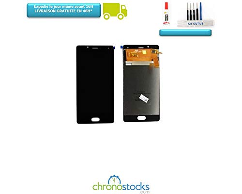 CHRONOSTOCKS Ecran Complet vitre Tactile + LCD wiko U-Feel ufeel Noir+ Outils