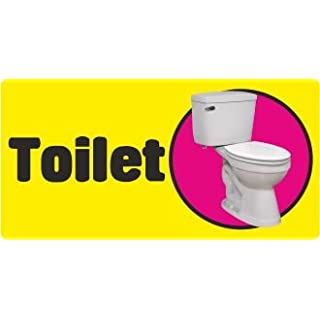 Advanced Printing Dementia Friendly Self-adhesive Toilet sticker sign for Alzheimers and Partially Sighted (Standard 250x125 mm)