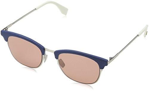 Fendi ff 0228/s 4s j2b, occhiali da sole uomo, rosso (silver red/burgundy), 50