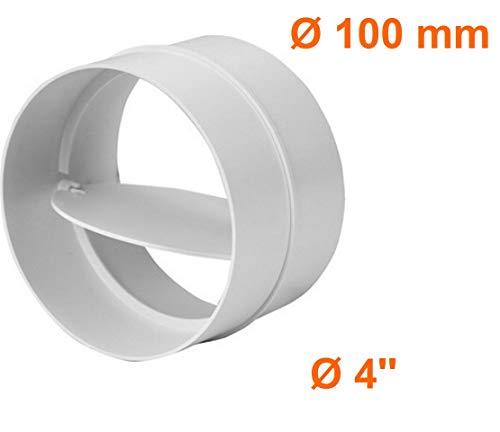 Raccordo con valvola antiriflusso connettore tubo di ventilazione rotondo tubo Ø 100 mm impianto di ventilazione canale av100