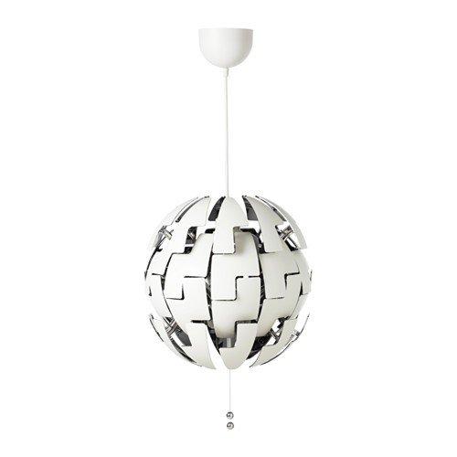 IKEA PS 2014 Hängeleuchte in weiß/silberfarben; (35cm); A++