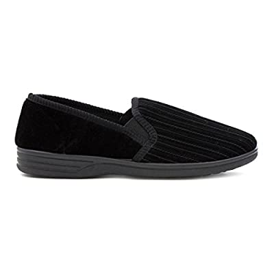 The Slipper Company - Mens Striped Black Slipper : everything five pounds (or less!)