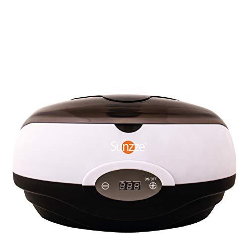 Sunzze Paraffin-Bad PB-100 BLACK mit digitaler Temperaturanzeige | Erwärmt Paraffinwachs pflegt rauhe strapazierte Haut und macht weiche geschmeidige Hände & Füße | fördert die Durchblutung -