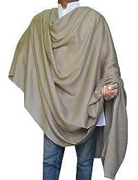 GARG Men's Woolen Dhariwal Hot Kashmiri Shawl,Free Size (Brown, 166)