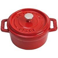 Staub 1101006 - Minicocotte redonda, color rojo cereza, tamaño 10 cm