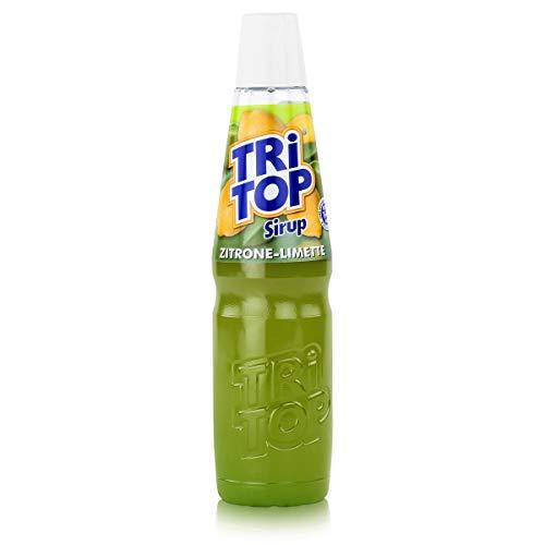 TRi TOP Getränkesirup Zitrone-Limette 1 x 600ml | Sirup für Wassersprudler | 1 Flasche ergibt ca. 5 Liter Erfrischungsgetränk