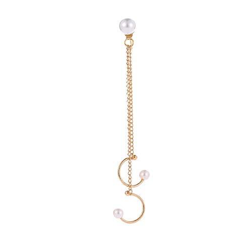 Vektenxi 1 stück Frauen modeschmuck Geschenk gefälschte Perle Kette Ohr Manschette Clip Ohrstecker-goldene langlebig und nützlich