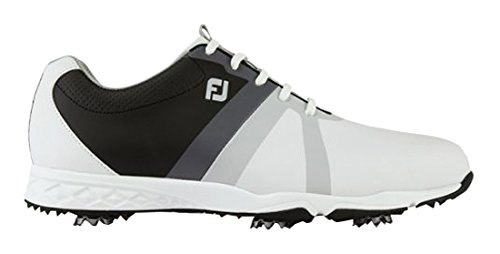 Footjoy Herren FJ Energize Golfschuhe, 58114 (White/Black/Grey), 10.5 UK (Fj Golf Schuhe Herren)