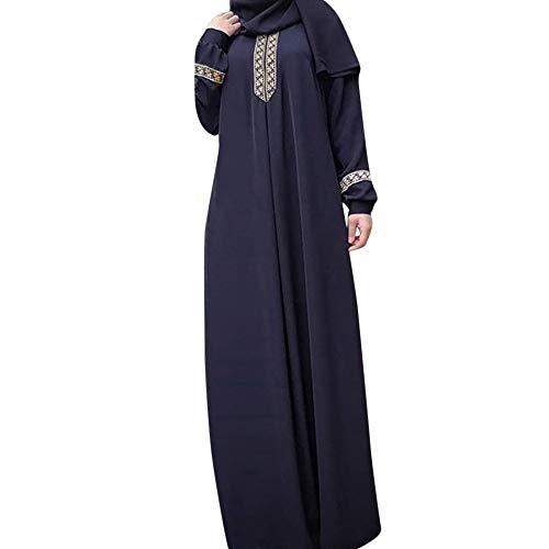 Zegeey Muslimische Damen Robe Kaftan Maxikleid Langarm Rayon Sticken Gewand Formal Modest Abendkleid Große Größe Abaya Dubai Kleider Muslim Frauen Hochzeit Kleid Tunika Kleidung islamischen ()