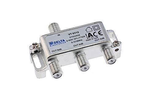 DCT-Delta, F-Verteiler 3-Fach 5-1218 MHz, TV-Verteiler, BK-Verteiler, DVB-C, Kabelfernsehen, Splitter, Class A + 10dB ...