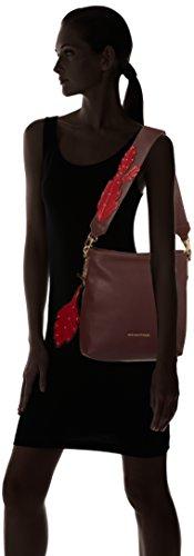 Trussardi Jeans Damen 75b00073-1y000015 Schultertasche, 38x33x7 cm Rot (Bordeaux)
