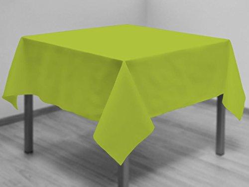 Soleil d'ocre Nappe Anti-tâches carrée 180x180 cm Alix anis Polyester, Vert, 180 X 180 cm