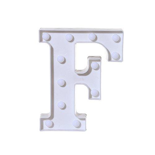 Vater bestes Geschenk! Beisoug Alphabet LED-Buchstabenleuchten leuchten die weißen Buchstaben aus Kunststoff, die von A-M aufgehängt ()