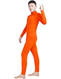 7148e7629ad5 NiSeng Adults and Children Costume Fancy Dress Catsuit Party Outfit Cosplay  Tight Bodysuit Zip Up Long