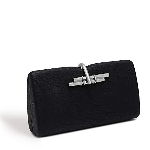 LaBante -Allegro- kleine Handtasche Clutch damemn - Schwarze Handtasche Tasche mit kettenhenkel Lady Bag vegan Handbags | Abendtasche Mit...