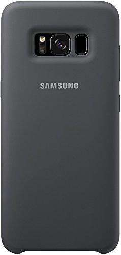 Samsung Silicone, Custodia protettiva in silicone per Galaxy S8, Grigio Scuro