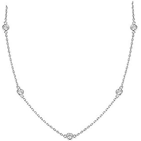 iJewelry2 zirconia cubica e argento Sterling Yard-Collana con catena