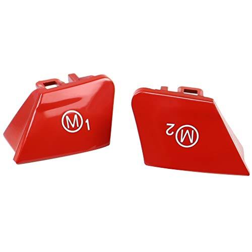 F Fityle 1 Paar Auto Styling Lenkrad Taste Abdeckung M1 M2 Steuerschalter Abdeckung - rot