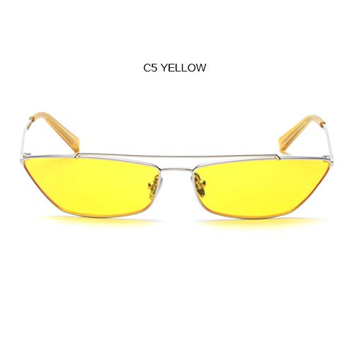 2THTHT2 Vintage Cat Eye Sonnenbrillen Damen Luxusmarke Designer Katzenaugen Sonnenglas Gelb