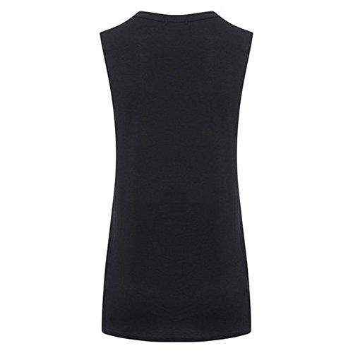 Nuovo signore delle donne in rilievo Mandala Dimensione stampa carro armato della maglia UK 8-14 Black