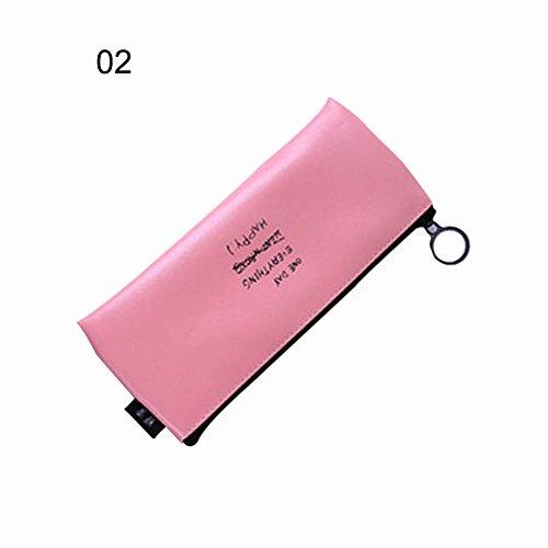 HERME Student PU Stift Beutel Bleistift Fall Travel Make-up Kosmetik Organizer Tasche (Handtasche Taschen Hermes)