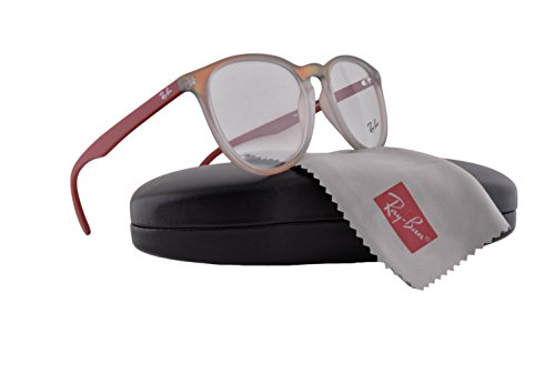 Ray-Ban unisex-adult RX7046 Brillen 53-18-145 w/Demo klare Linsen 5485 RX 7046 RB 7046 RB7046 Red Iridescent groß