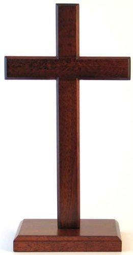 30cm stehend cross quadratische Basis christlichen desktop Geschenk Kruzifix aus Holz Holz