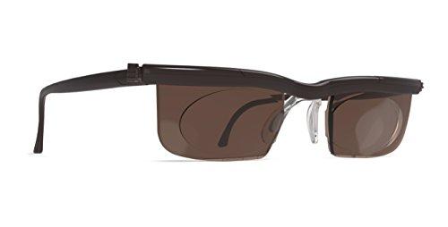 Adlens SunDialsPlus Sonnenbrille mit Sehstärke für Nah und Mittelsichtbereich Lesebrille / braun / +2.75 Dioptrien