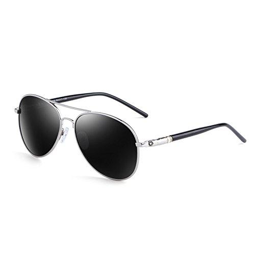 Sonnenbrille Unisex verstärkte polarisierte Linsen UV400 Anti-UV Sonnenbrillen ( farbe : Silber )