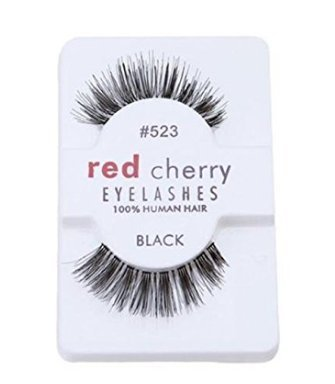 Tia-Ve 5 Paar/Lot Criss Cross Falsche Wimpern Lashes Voluminöse HOT Wimpern (red cherry one pair) (Cherry Red Hot)