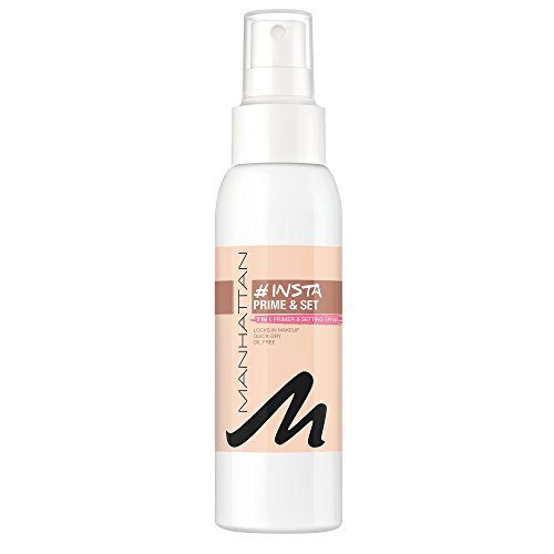 Manhattan Insta Prime & Set Spray, Make-up Setting-Spray, auch als Primer verwendbar, Farbe Clear 100 (1 x 100ml)