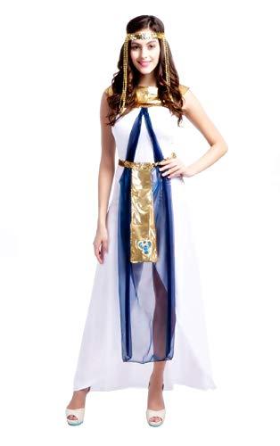 Inception Pro Infinite (Größe L) Cleopatra Kostüm - Ägyptisch - Weiß - Maskerade - Frau - Erwachsene - Halloween - Karneval - Partys