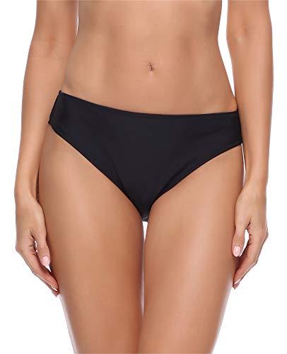 Merry Style Damen Bikini Slip Unterteil D4S (Schwarz (2), 40) Schwarze Damen-slip