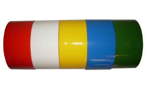 5x Klebeband Paketband Packband 66m X 48mm 1x gelb blau grün rot weiß