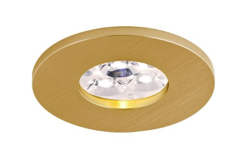 Bpm Lighting - Foco Empotrable Circular IP65 Ambientes Humedos, Color Oro Satinado