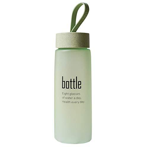 Hukz Handschale kreativer tragbarer Wasserschale,Wasserflasche Plastik Sportpeeling Leck Proof Meine Flasche Tragbare Mode Trinken,Material: Kunststoff + Silikon(Ca [acity: 520ml) (Grünes)
