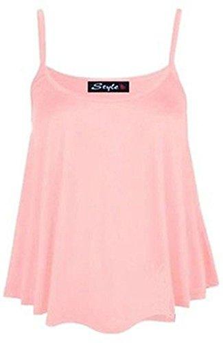 Damen Unterhemd, Top mit Trägern Swing Damen Cami Flared Übergröße, Gr. 34-50 Rosa - Babyrosa