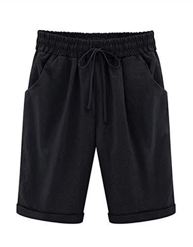 Elonglin - Pantalón Corto Deportivo - Mujer Negro