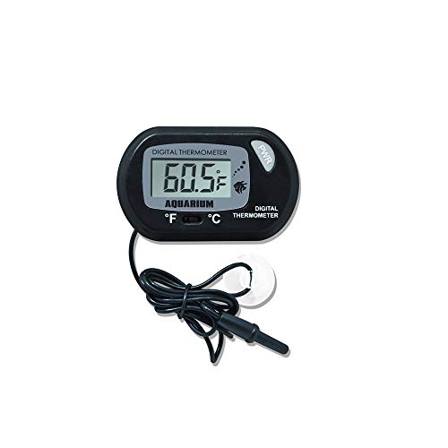Robuste Lcd-marine (Aofocy Fisch Aquarium Thermometer Digital LCD Saugnapf Typ Marine Vivarium Thermometer Für Aquarium Reptil Box Pet Box Thermometer)