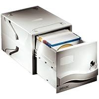 Esselte Cajón archivador para CDs con cerradura, Capacidad para 160 CDs o DVDs, 31 x 60 x 19,5 cm, Gris claro, 67092