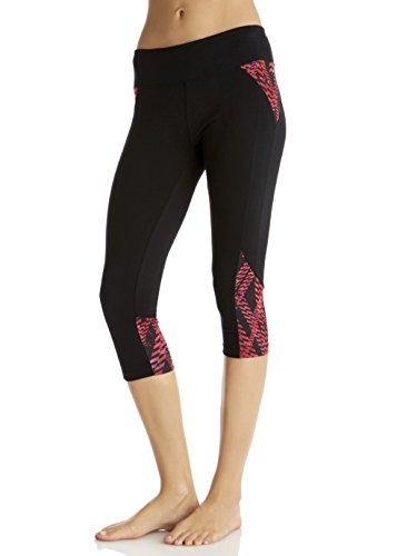 Marika capri legging pour femme Rose - Pink Sapphire/Black