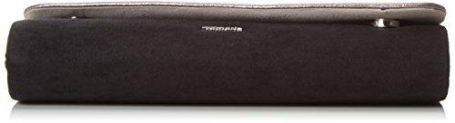 Tamaris - AIKA Clutch Bag, Pochette Donna Nero (Schwarz (pewter comb))