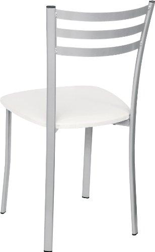 Stil sedie sedia cucina modello flora con seduta in for Sedie blu cucina