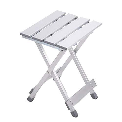 LIPAI Klappstuhl Angeln Aluminium Klapphocker Erwachsenen Leichte Mini Outdoor Tragbare Klappstuhl Hause Mazar Hocker Silber 24 * 26 * 40 cm