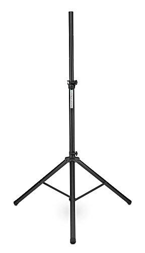 Pronomic SPS-1A Boxenstativ Alu (Boxenstativ aus Aluminium, stabile, extra breite Dreibein, 125 - 185 cm, auch als Dartstativ oder Fotostativ verwendbar) schwarz - Stehen Teller Wand