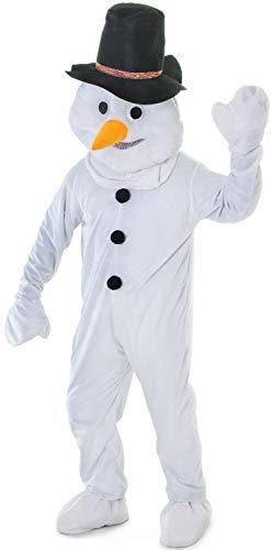Mens Ladies Mascot Big Head Snowman Christmas Xmas Parade Show Play Celebration Fancy Dress Costume - Christmas Parade Kostüm