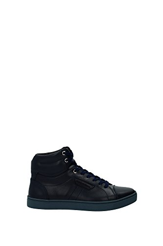 CS1327A344480650 Dolce&Gabbana Sneakers Homme Cuir Bleu Bleu